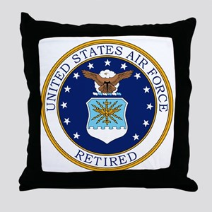 USAF-Retired-Bonnie Throw Pillow
